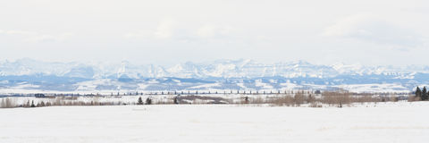Prairie Rocky Mountain Panorama Stock Images