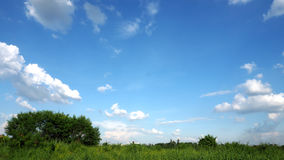 Prairie sky and fluffy clouds 06 Stock Photography