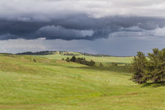 Prairie with storm clouds Royalty Free Stock Photos