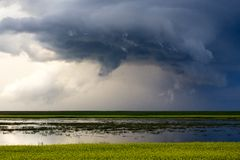 Prairie Storm Clouds Royalty Free Stock Photos