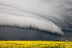 Prairie Storm Clouds Royalty Free Stock Photography