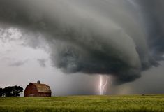 Prairie Storm Clouds Royalty Free Stock Photo