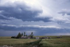 Prairie Storm Clouds Stock Images