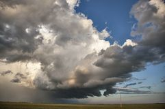 Prairie Storm Clouds Royalty Free Stock Images