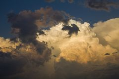 Prairie Storm Clouds stock image