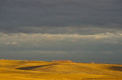 Prairie Storm. Severe storm approaching quickly across the plains Stock Photography