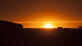 Prairie Sunset Sillouette Stock Photos
