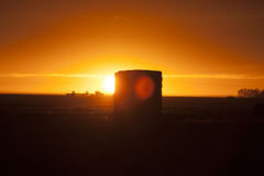 Prairie Sunset Sillouette Stock Images