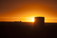 Prairie Sunset Sillouette Stock Photography