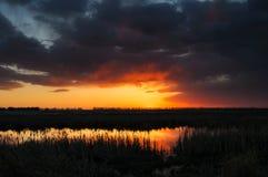 Prairie Sunset Royalty Free Stock Image