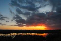 Prairie Sunset stock photo