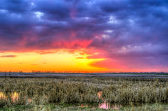 Prairie Sunset Stock Images