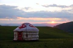 Prairie sunset view Royalty Free Stock Photo