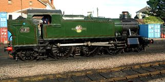 4160 Prairie Tank. On West Somerset Railway Minehead GWR class 5101 Royalty Free Stock Image