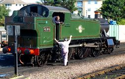 4160 Prairie Tank. On West Somerset Railway Minehead GWR class 5101 Royalty Free Stock Photo