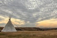 Prairie Teepee Stock Photo