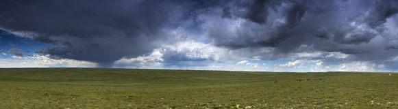 Prairie Thunderstorm Panoramic Stock Photos