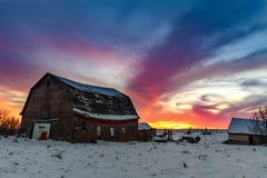 Prairie Views and Amazing Skies Stock Photo