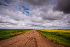 Prairie Views and Amazing Skies Stock Photography