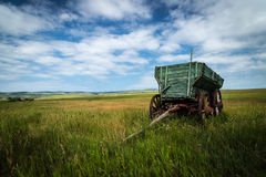 Prairie Wagon. Old wagon on the prairie in Alberta Canada stock photography