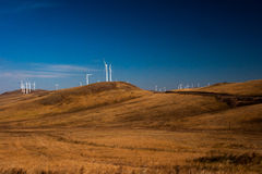 Prairie Windmill. The hulunbuir the scenery on the road of China Royalty Free Stock Photos