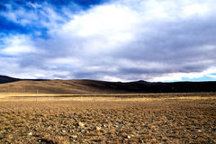 Prairie. The prairie in winter,at an altitude of 4200 metres,in Tibet .photo in 2015 royalty free stock image