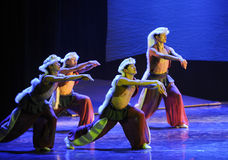 Prairie wolves -The dance drama The legend of the Condor Heroes Stock Image