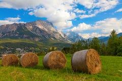 Prairies de fauche en petits pains, Italie Images libres de droits
