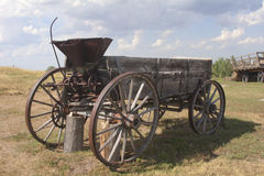 Prairiewagen Stock Foto's