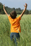 Praise. Child, praising, worshiping, faith, outdoors Stock Photos