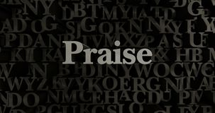 Praise - 3D rendered metallic typeset headline illustration Royalty Free Stock Photography