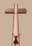 Praise. Girl praise the lord. vector vector illustration