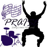 Praise. Jesus with dance and song and psalms Royalty Free Stock Photo
