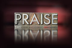Praise Letterpress Stock Photos