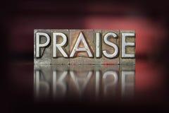 Praise Letterpress Stock Photos