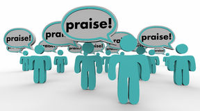 Praise People Speech Bubbles Compliments Words Royalty Free Stock Photo