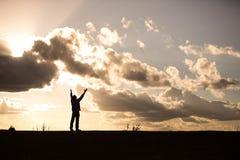 Praise silhouette Stock Image