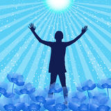 Praise Silhouette Stock Photo