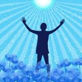 Praise Silhouette Stock Photo