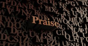 Praise - Wooden 3D rendered letters/message Royalty Free Stock Image