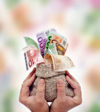 Praising money Royalty Free Stock Image