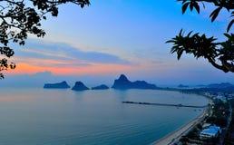 Prajuabkerekan bay. Sea sand in thailand Stock Image