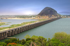 Prakasam barrage, India stock image