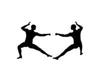 Praktijk 2 van de kungfu Stock Foto