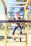 Praktisera kondition för flicka Royaltyfria Foton
