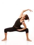 Praktisera yoga Arkivbild