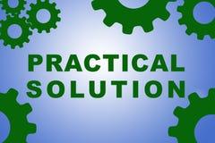 Praktiskt lösningsbegrepp vektor illustrationer