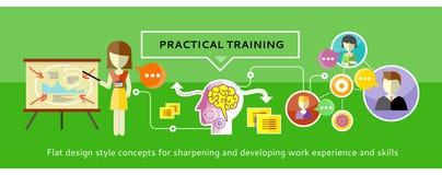 Praktiskt utbildningsbegrepp vektor illustrationer