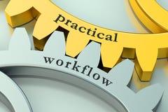 Praktiskt workflowbegrepp på kugghjulen royaltyfri illustrationer
