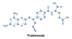 Pralatrexate anti--cancer terapi stock illustrationer